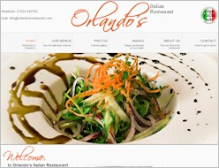 Link to Orlandos Restaurant website